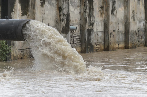 Untreated stormwater can potentially discharge into streams, rivers and lakes.
